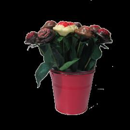 Bouquet de 9 roses en chocolat