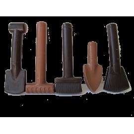 Les outils de Jardin en chocolat
