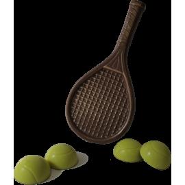 le Set de Tennis en Chocolat noir et blanc
