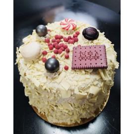 Merveilleux chocolat blanc 8 pers. anniversaire