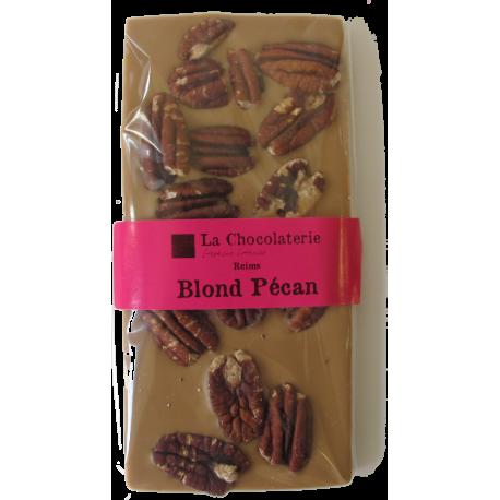 Tablette Chocolat Blond Noix de Pécan