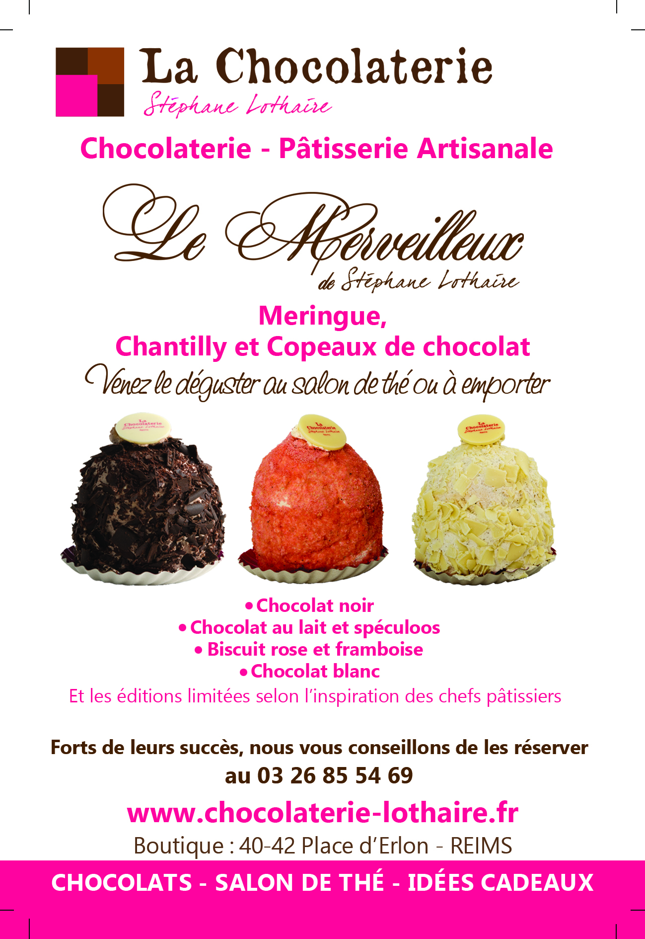 Merveilleux - Chocolaterie Lothaire - Flyer recto
